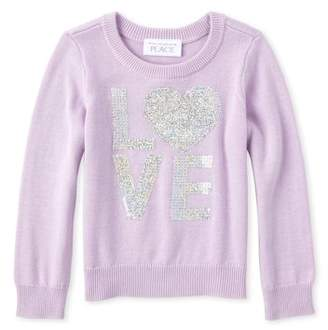 Children's Place The 'Love' Graphic Sweater (Baby Girls & Toddler Girls)