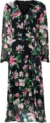 Wallis **TALL Floral Print Tiered Midi Dress