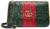 Gucci Web wicker small shoulder bag