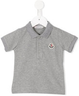 Moncler embroidered logo polo shirt - kids - Cotton/Spandex/Elastane - 3-6 mth