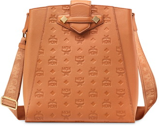 MCM Small Essential Monogram Leather Bucket Bag