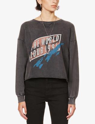 Paige Raeanna graphic-print cotton-blend sweatshirt