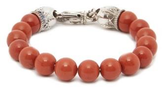 Emanuele Bicocchi Jasper & Sterling-silver Bracelet - Red
