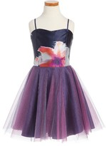 Un Deux Trois Girl's Sleeveless Tulle Dress