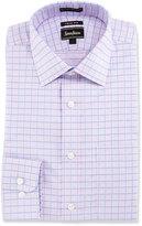 Neiman Marcus Trim-Fit Regular-Finish Check Dress Shirt, Pink/Blue