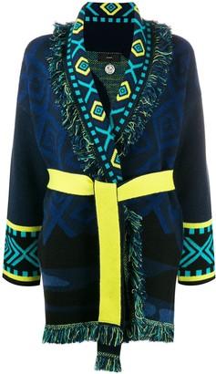 Alanui Belted Patterned Cardi-Coat
