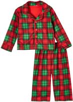 Red & Green Plaid Pajama Set - Toddler
