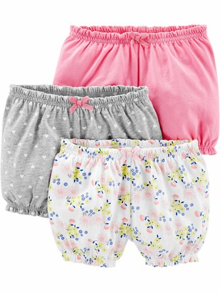 Simple Joys by Carter's Girls' 3-Pack Bloomer Short