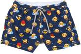 MC2 Saint Barth Emoji Print Nylon Swim Shorts