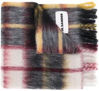 Jil Sander Check Hand-Knit Blanket