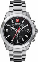 Swiss Military Hanowa Men's Predator 06-5169-04-007 Silver Stainless-Steel Swiss Quartz Watch with Carbon-Fiber Dial