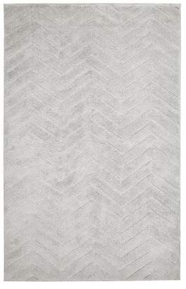 Pottery Barn Teen Plush Performance Chevron Rug, 8'x10, Light Gray