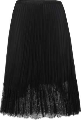 McQ Lace-trimmed Pleated Chiffon Midi Skirt