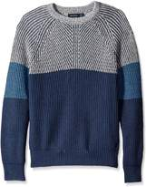Nautica Men's Color Blocked Sweater with Wool Like Feel