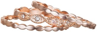 Lauren Conrad Rose Gold Tone Scalloped Stacking Ring Set
