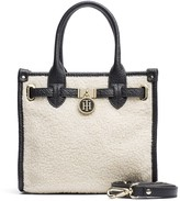 Tommy Hilfiger Shearling And Leather Mini Tote