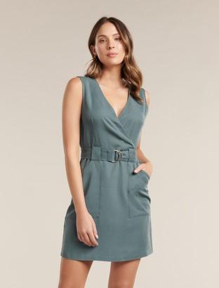 Forever New Katy Sleeveless Belted Dress - Pine blue - 10