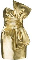 Saint Laurent bow mini dress - women - Silk/Cotton/Acetate/Metallized Polyester - 38