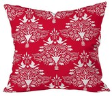 """DENY Designs Christmas Paper Cutting Throw Pillow Red (20"""" x 20"""