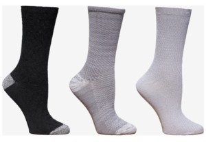 Cuddl Duds Women's 3-Pk. Crew Socks