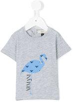 Armani Junior flamingo print T-shirt