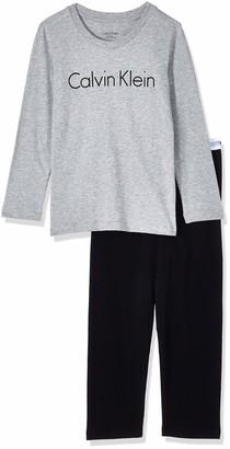 Calvin Klein Boy's Ls Knit Pj Pyjama Set 2pk