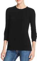 Aqua Cashmere Fitted Crewneck Cashmere Sweater