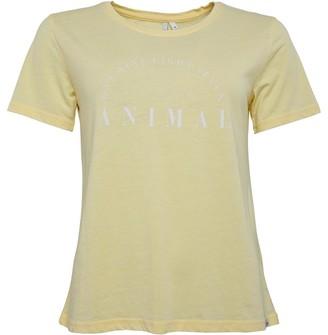 Animal Womens Graphic T-Shirt Yellow