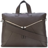 Orciani large zip detailed tote bag