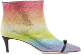 Marco De Vincenzo rainbow rhinestone embellished boots