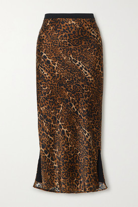 CAMI NYC The Jessica Leopard-print Silk-charmeuse Midi Skirt - Brown