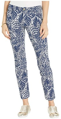 Lilly Pulitzer Kelly Knit Skinny Ankle Pants (High Tide Navy By Land Or By Sea) Women's Casual Pants
