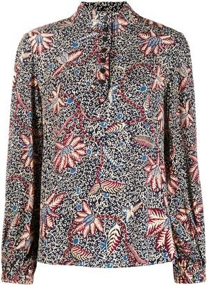 BA&SH Jet abstract-print blouse