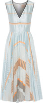 Roksanda Lovell striped satin midi dress
