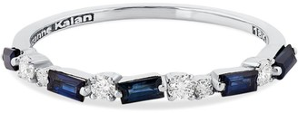 Suzanne Kalan White Gold, Diamond and Sapphire Fireworks Half-Band Eternity Ring (Size 6.5)