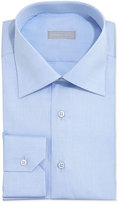 Stefano Ricci Basic Solid Barrel-Cuff Dress Shirt, Blue