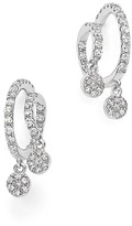 Meira T 14K White Gold Swirl Earrings with Diamonds