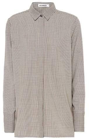 Jil Sander Checked virgin wool shirt