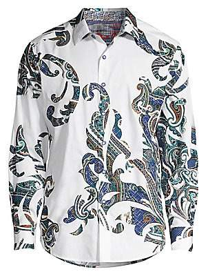 Robert Graham Men's Classic-Fit Marlo Multi-Pattern Paisley Print Shirt