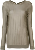 Nina Ricci lightweight ribbed top - women - Viscose - S