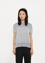 Sacai Striped Sweater with Back Cascade