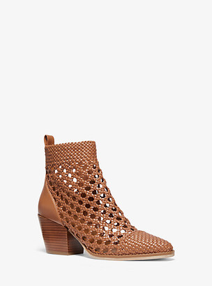 Michael Kors Augustine Woven Ankle Boot