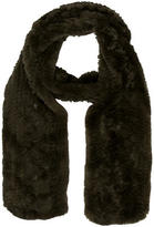 J. Mendel Olive Green Rabbit Fur Scarf