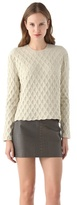 Alexander Wang Large Embossed Sweater