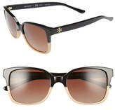 Tory Burch Women's 54Mm Polarized Sunglasses - Black/ Tan