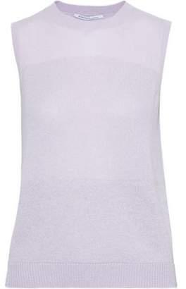 Agnona Metallic Cashmere-blend Top