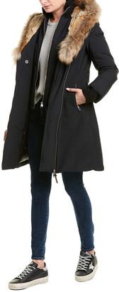 Mackage Trish Leather-Trim Down Coat