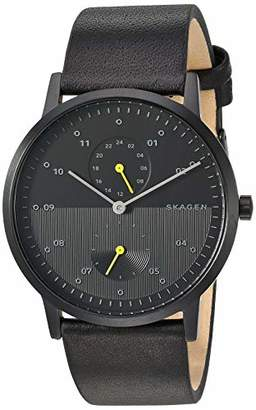 Skagen Men's Kristoffer Multi Quartz Leather Watch Color: