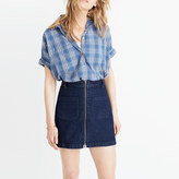 Madewell Denim Zip Mini Skirt