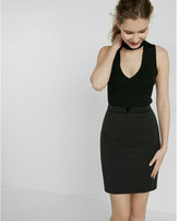 Express high waisted piped pencil skirt